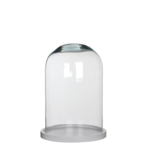 Hella cover glass on plate white - h30xd21cm