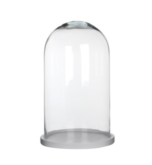Hella cover glass on plate white - h38xd23cm