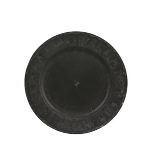 Mila decoration plate anthracite - 11.75""