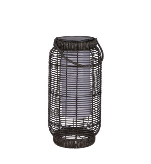 Peak lantern d. brown solar - 7.25x14.25""