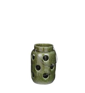 "Arena lantern green - 6.75x9.75"""