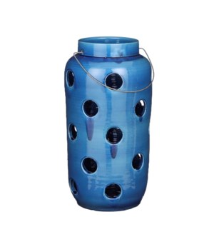 "Arena lantern blue - 9.75x19.75"""