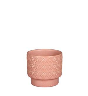 """Helen pot round orange - 4.75x4.25"""""""