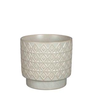 """Helen pot round cream - 6.75x6.25"""""""