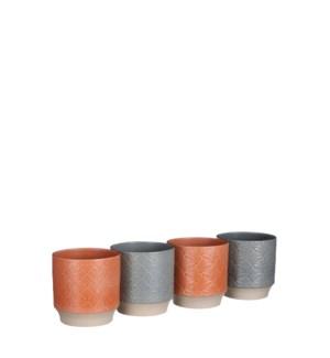 "Bick pot round 4 assorted PDQ - 5x5"""