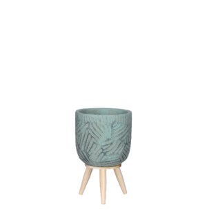 """Gaby pot on stand turquoise - 5x7.75"""""""