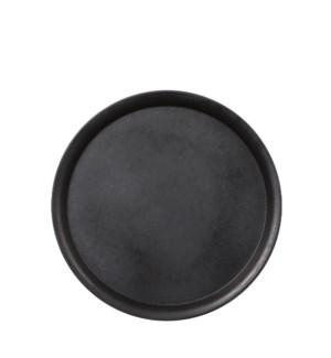 """Elba plate black - 15.5"""""""