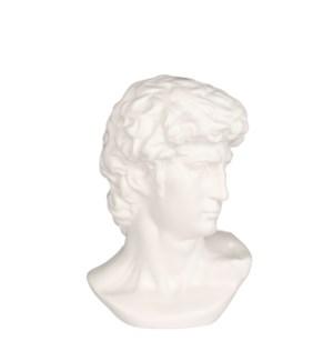 """Statue head off white - 7.25x6.5x11.25"""""""