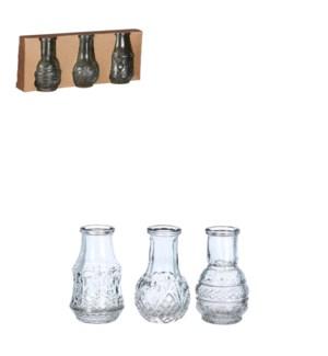 """Dax single flower vase l. blue 3 pieces - 2.25x3.25"""""""