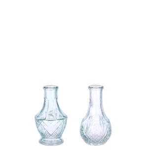 Dax single flower vase l. blue 2 assorted - 2.25x5""
