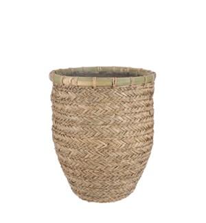 "Elio pot round l. brown - 14.25x15.75"""