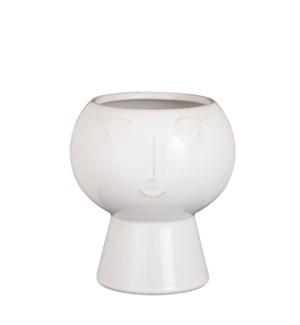 "Pot face white - 7.25x8"""