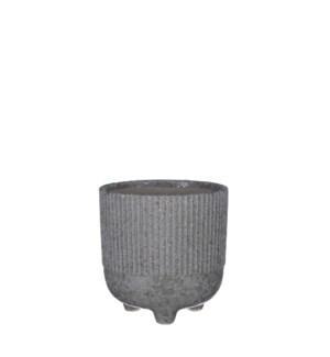 "Dores pot round d. grey - 5.5x5.5"""