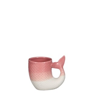 "Pot fish pink - 4.75x3.25x4.25"""