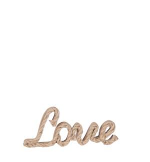 "Decoration LOVE brown - 11.5x0.75x4"""