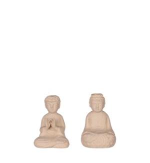 "Buddha brown 2 assorted - 3.25x3x4.75"""