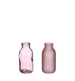 """Steffie single flower vase pink 2 assorted - 2x4.25"""""""