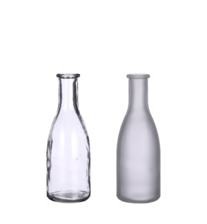 """Suse single flower vase glass 2 assorted - 2.5x7.25"""""""