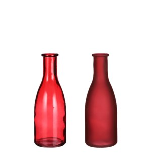 """Suse single flower vase red 2 assorted - 2.5x7.25"""""""