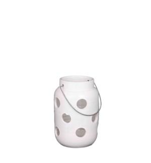 """Arena lantern white - 6.75x9.75"""""""