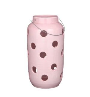 """Arena lantern pink - 9.75x19.75"""""""