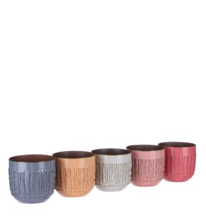 Floor pot round 5 assorted PDQ - 5.5x5""