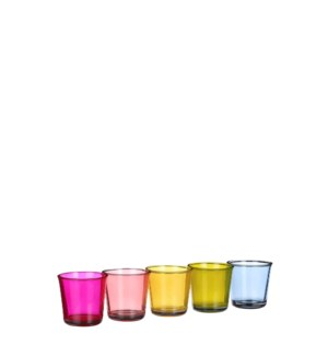Troj pot glass 5 assorted PDQ - 4.25x4.25""