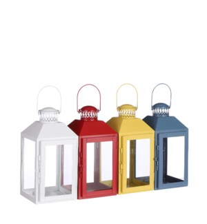 Lantern white yellow pink blue 4 ass. PDQ - 5x4.75x9.75""