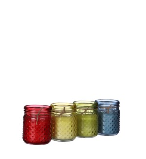 """Candle citronella 4 assorted - 4x5"""""""