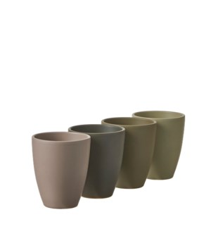 """Tusca orchid pot round 4 assorted pdq - 4x5"""""""