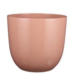 "Tusca pot round l. pink - 12.25x11.25"""