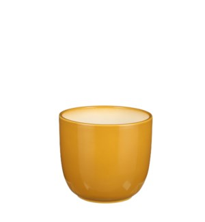 "Tusca pot round ochre - 5.75x5.5"""
