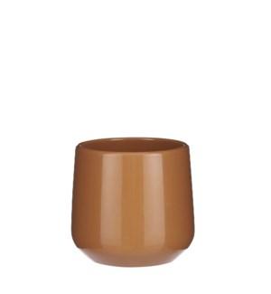 "Amber pot round brown - 5x5.25"""