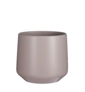 "Amber pot round taupe - 8.25x8.25"""