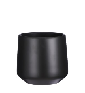 "Amber pot round d. grey - 8.25x8.25"""