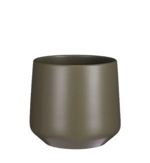 "Amber pot round green - 8.25x8.25"""