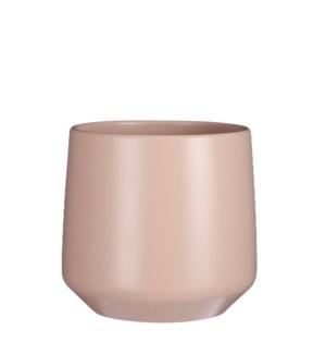 "Amber pot round l. pink - 8.25x8.25"""