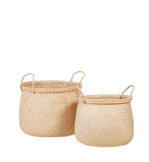 """Safari basket l. brown set of 2 - 15.75x11.75"""""""
