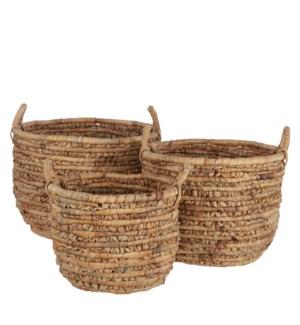 """Hester basket l. brown set of 3 - 19.25x15"""""""