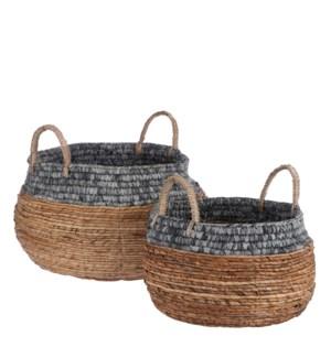 """Savanna basket blue set of 2 - 18x13.75"""""""