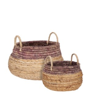 "Savanna basket purple set of 2 - 18x13.75"""