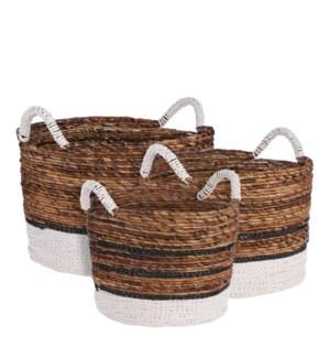 "Berto basket d. brown set of 3 - 18.5x15.25"""