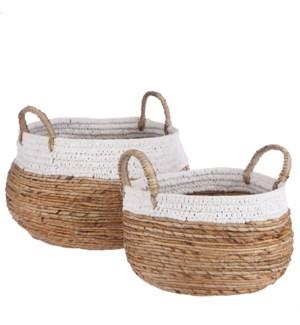 "Savanna basket white set of 2 - 18x13.75"""