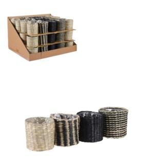 "Alexis pot round 4 assorted PDQ 60 pieces - 4x3.5"""