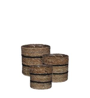 "Celestial basket black set of 3 - 6.25x6.25"""