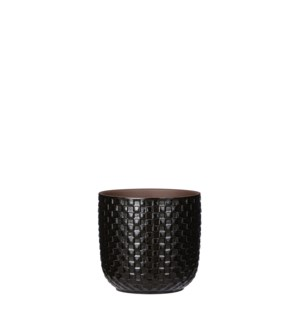 Daan pot round black - 5.25x5""