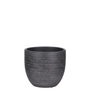 Carrie pot round black - 6.25x5.5""