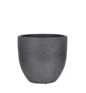 Carrie pot round black - 9.5x8.75""