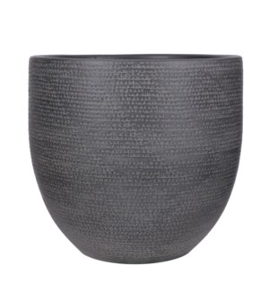 Carrie pot round black - 15.25x14.25""