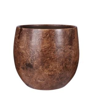 "Oliver pot round bronze metal - 13x12.25"""
